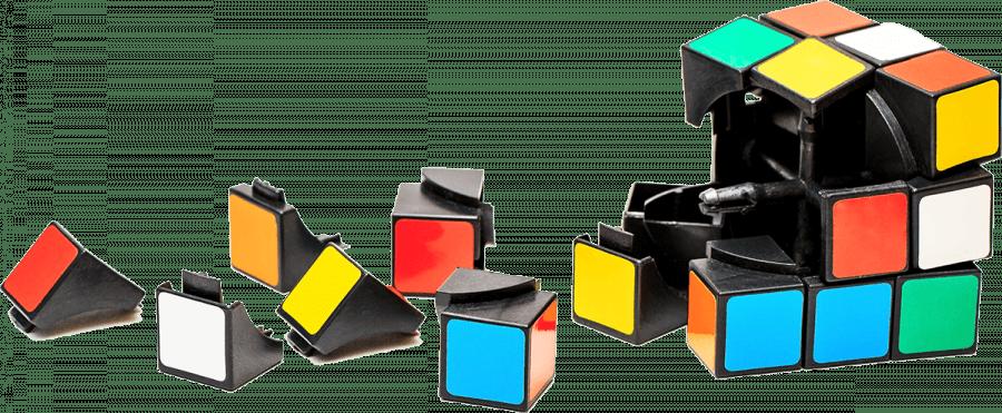 Rubikscube-gedemonteerd