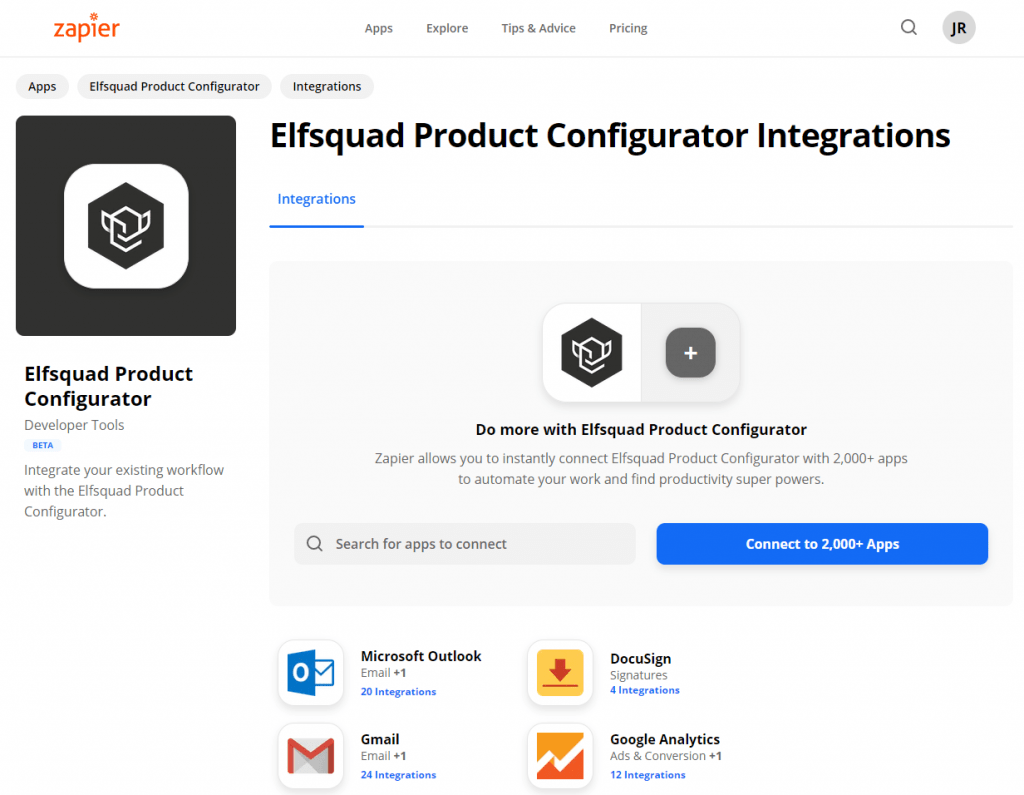 zapier-elfsquad-product-configurator